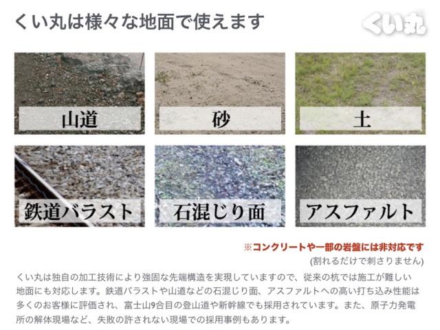 山道、アスファルト、石混じりの地面、鉄道バラストなど幅広い地面に対応